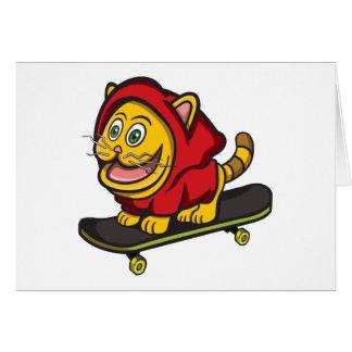 Skate Cat Card