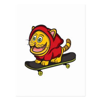 Skate Cat Postcard
