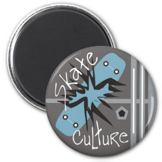 Skate Culture 2 Inch Round Magnet