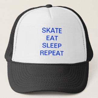 Skate eat sleep repeat trucker hat