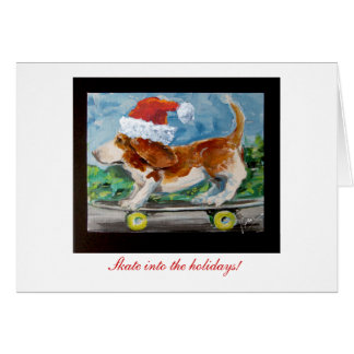 Skate into the Holiday's greeting card. Card