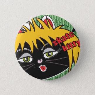Skate Kitty nesta 2 Inch Round Button