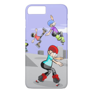 Skate on young wheels jumping in the incline iPhone 8 plus/7 plus case