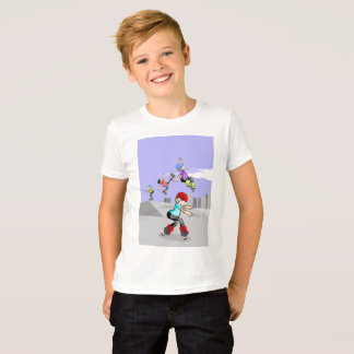 Skate on young wheels jumping in the incline T-Shirt