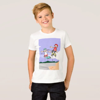 Skate on young wheels jumping in the street T-Shirt