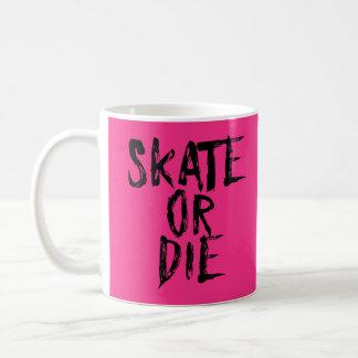Skate or Die, Roller Derby Girl design Coffee Mug