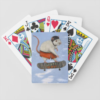 Skate Rat Bicycle Playing Cards