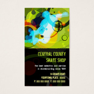 Skate Shop PopArt Business Card