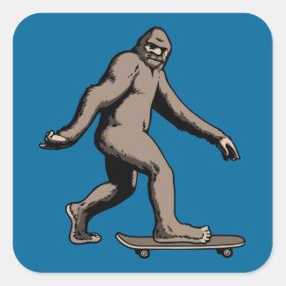 Skate Squatch Square Sticker