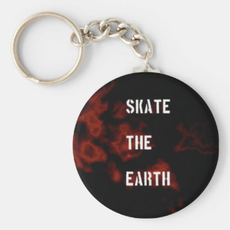 Skate The Earth Keychain