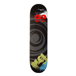 Skate Twister Personalize Initials and Birth Year Skateboards Cutomisables