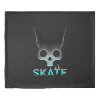 Skate Urban Graffiti Cool Cat Duvet Cover