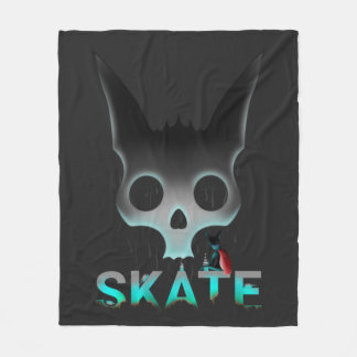 Skate Urban Graffiti Cool Cat Fleece Blanket