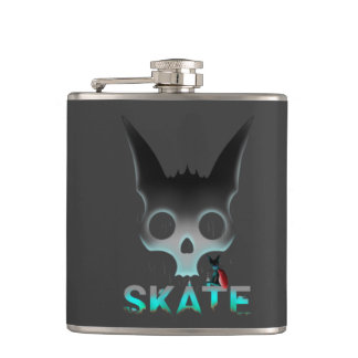 Skate Urban Graffiti Cool Cat Hip Flask