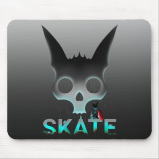 Skate Urban Graffiti Cool Cat Mouse Pad