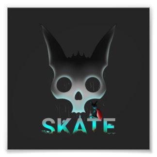 Skate Urban Graffiti Cool Cat Photo Art