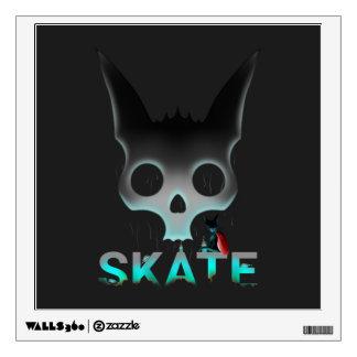 Skate Urban Graffiti Cool Cat Wall Sticker