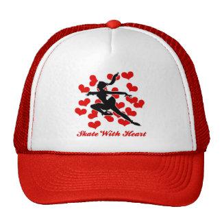 SKATE WITH HEART CAP TRUCKER HAT