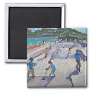 Skateboaders Teignmouth 2012 Square Magnet