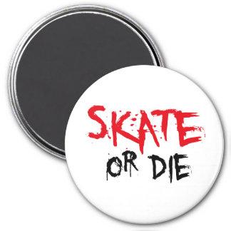 skateboard 3 inch round magnet
