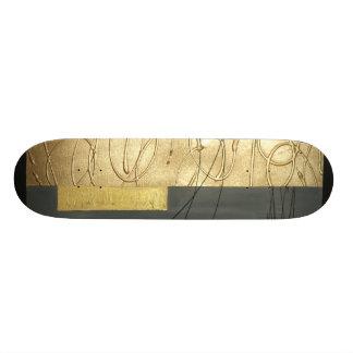 Skateboard, abstractly, golden line custom skate board