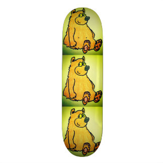 SKATEBOARD - CARTOON BROWN BEAR