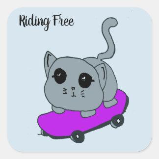 skateboard cat sticker