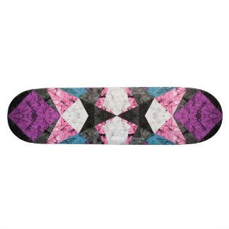 Skateboard Colorful digital art splashing G391