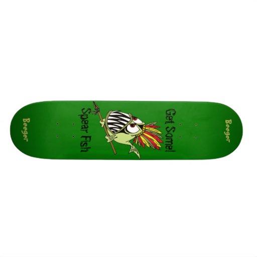 Skateboard Comp - Animated Tribal Killer Fish