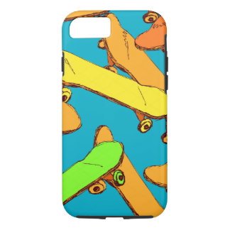 Skateboard Cool Pattern vectors iPhone 7 Case