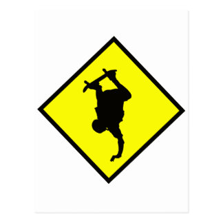 Skateboard Crossing Sign Postcard
