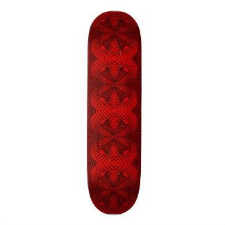 Skateboard Deck; 3D Fractal Design, Crimson