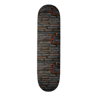 Skateboard Deck; Cracked Wall
