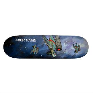 skateboard deep sea turtle with personal name.