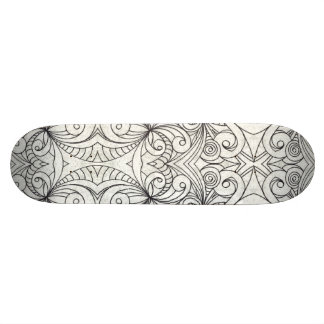 Skateboard Floral abstract background