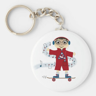 Skateboard Kid Keychain