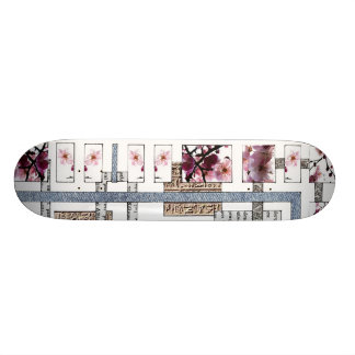 "Skateboard ""Labyrinth and cherry tree """