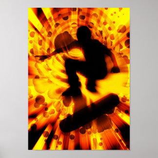 skateboard light explosion poster