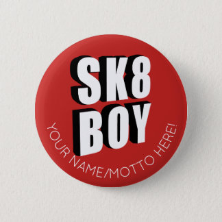 Skateboard Logo 2 Inch Round Button