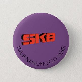 Skateboard Logo 2 Inch Round Button