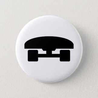 Skateboard logo icon 2 inch round button