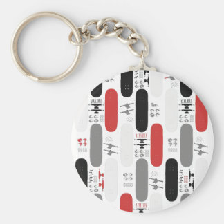 Skateboard Madness (GRB) Basic Round Button Keychain