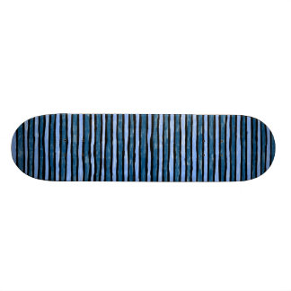 Skateboard, Painted Stripes, Lt. Blue and Blue Skate Board