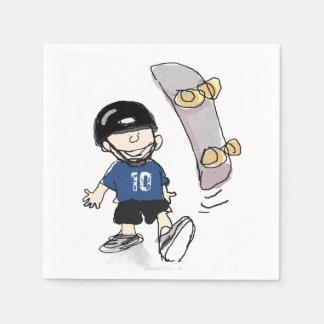 Skateboard Party Paper Napkins