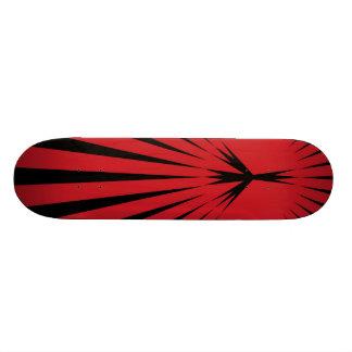Skateboard, Peace Starburst, Red & Black Skate Board