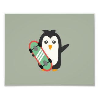 Skateboard Penguin Art Photo