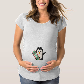 Skateboard Penguin Maternity T-Shirt