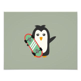 Skateboard Penguin Photo Art