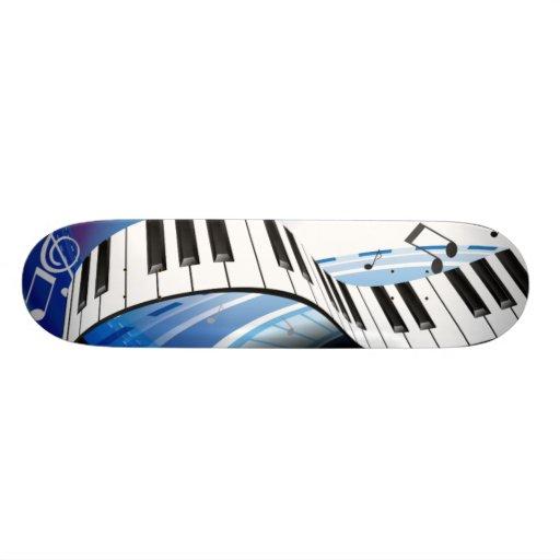 Skateboard - Piano keyboard