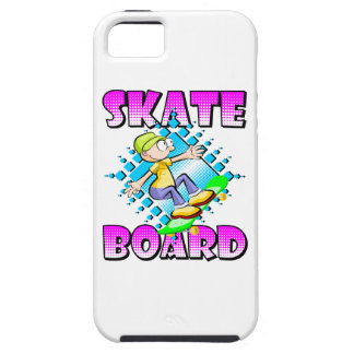 Skateboard pink text with boy skating case for the iPhone 5